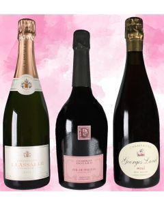 Assort. je 2 Fl. Rosé-Champagner von Doyard, Lassalle, Laval